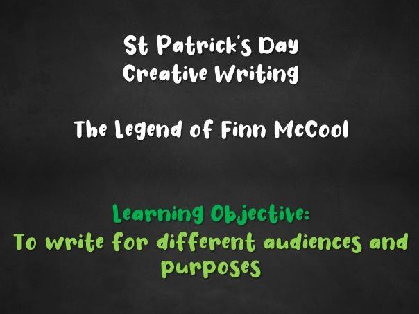 St Patrick's Day - Creative Writing Lesson