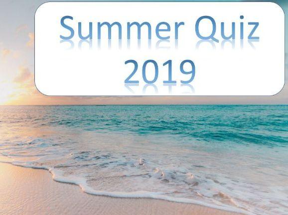 SUMMER 2019 QUIZ