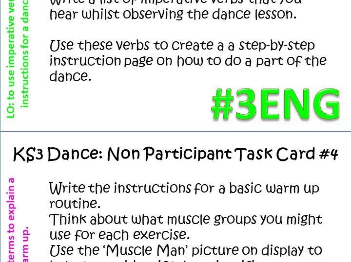 KS2 KS3 Non Participant Dance Task