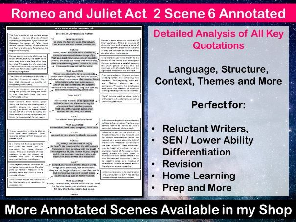 Romeo and Juliet Act 2 Scene 6 Annotated