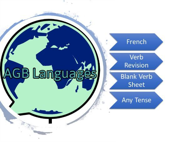 French Blank Verb Sheet (Extended)