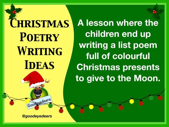 Christmas Poetry Writing Ideas -  List Poem