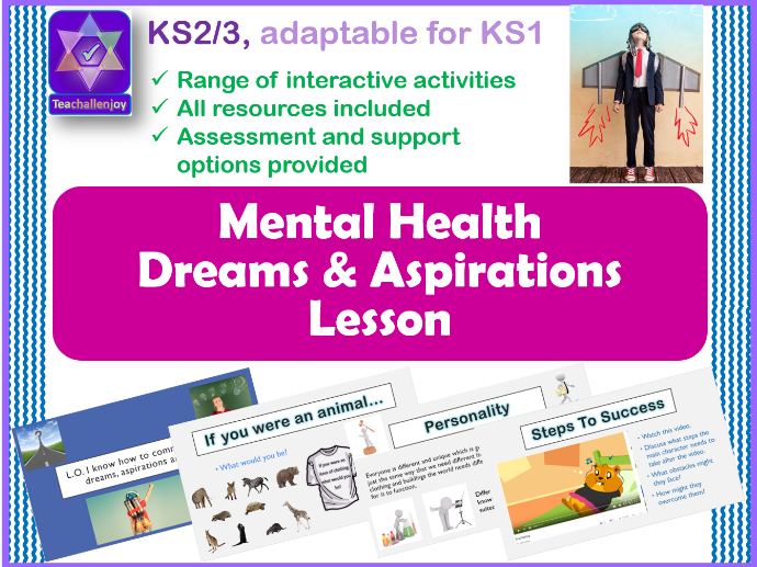 Dreams and Aspirations Mental Health PSHE Lesson