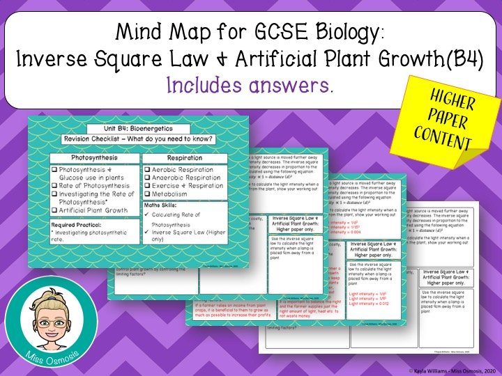 GCSE Biology Revision: Artificial Plant Growth +Inverse Square Law (Higher paper)