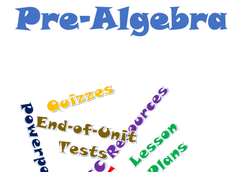 Pre-Algebra Bundle of Worksheets