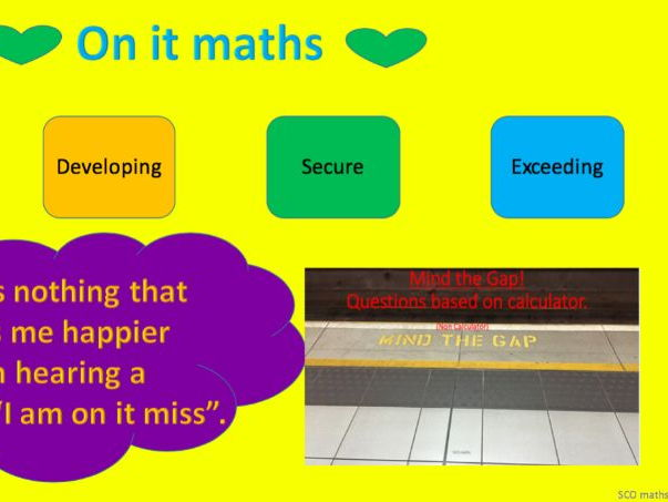GCSE 9 - 1 Mind the Gap (wk 5) - Foundation tier.