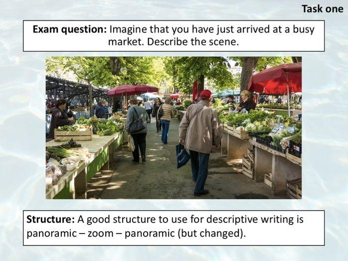 Cambridge IGCSE 0500 - Descriptive Writing paper 2 (2 hour lesson)