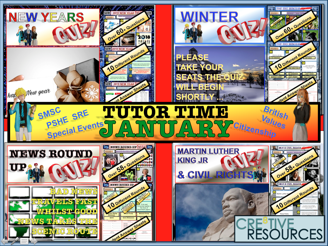 January Tutor Time 2019 Package