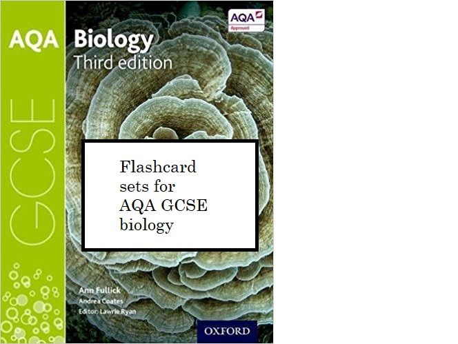 Revision flashcards for GCSE biology AQA