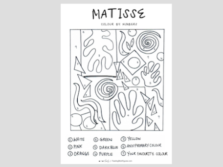 MATISSE Colour By Numbers Activity Sheet