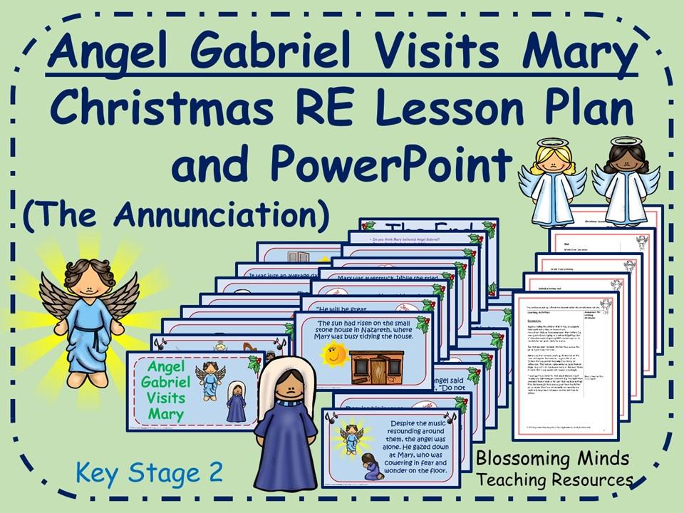 Christmas lesson - Angel Gabriel Visits Mary - KS2