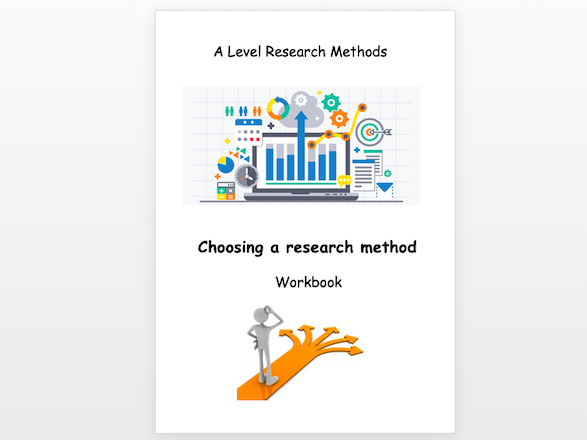 Sociology A level research methods choosing a research method workbook topic 1