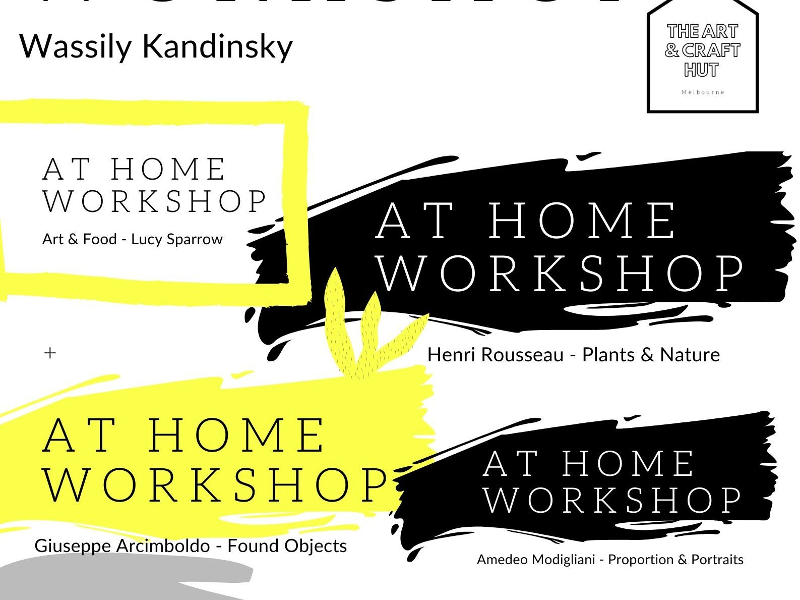 At Home Art Workshops Inspired By Historical & Modern Artists | For Remote Teaching & Learning
