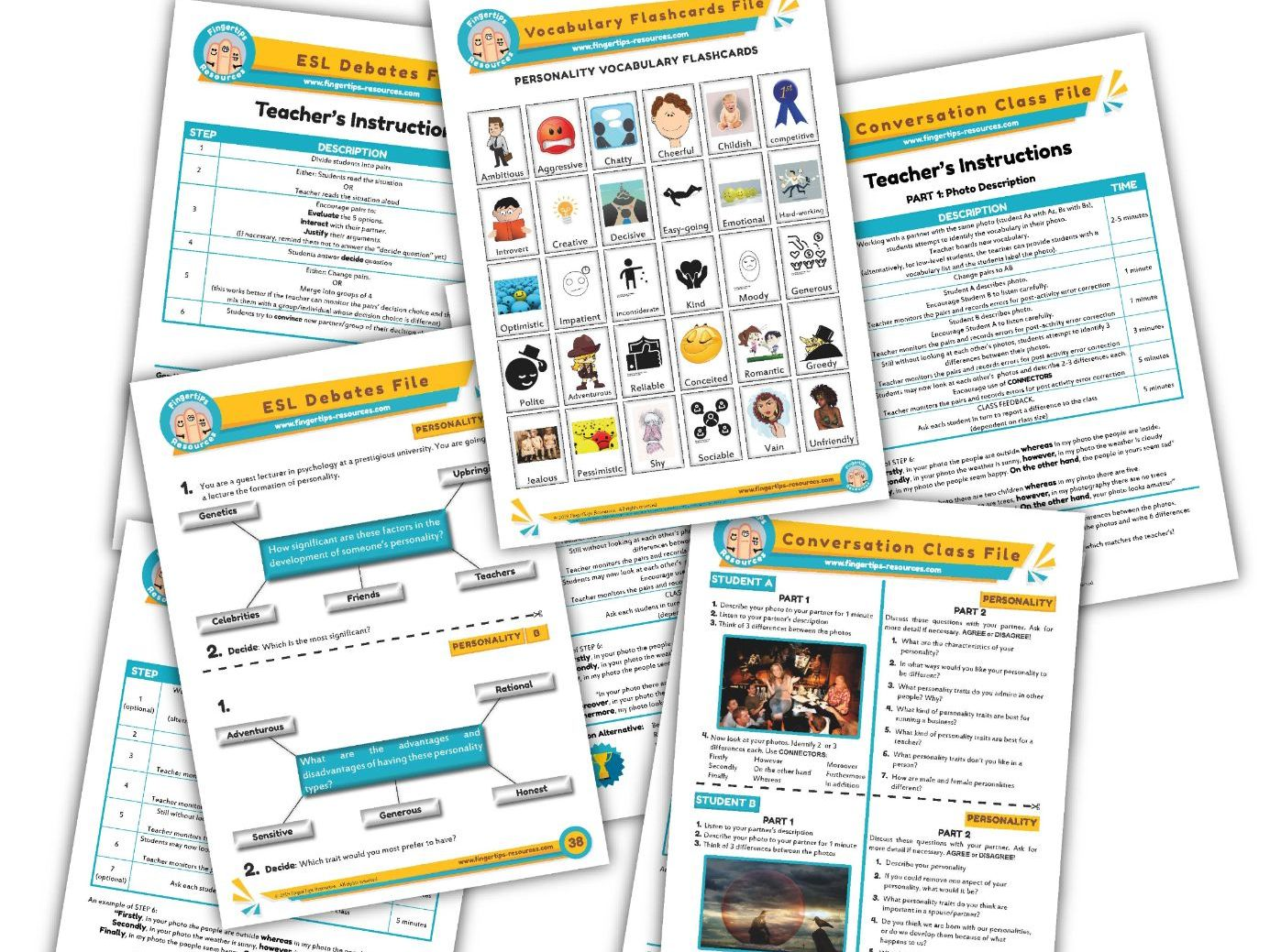 Personality & Character Unit - ESL Activity Bundle