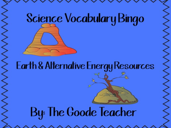 Earth & Alternative Energy Resources Bingo