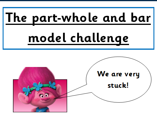 Year 1 part-whole model/bar model reasoning and problem solving