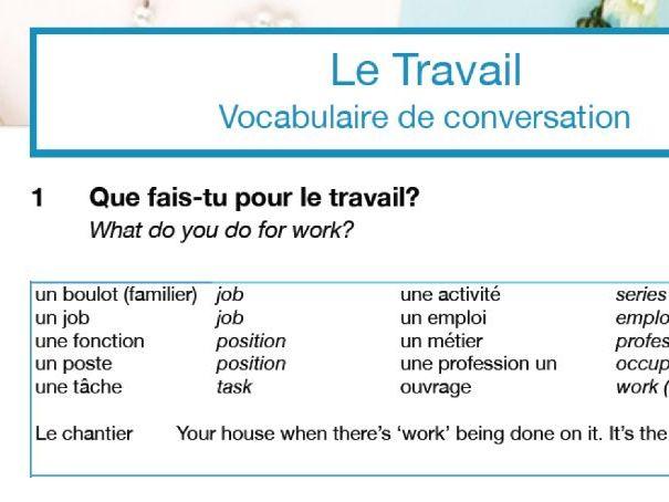 Confident Conversation Mini Pack: Le travail