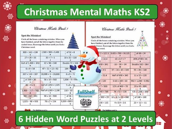 Christmas Mental Maths Activities