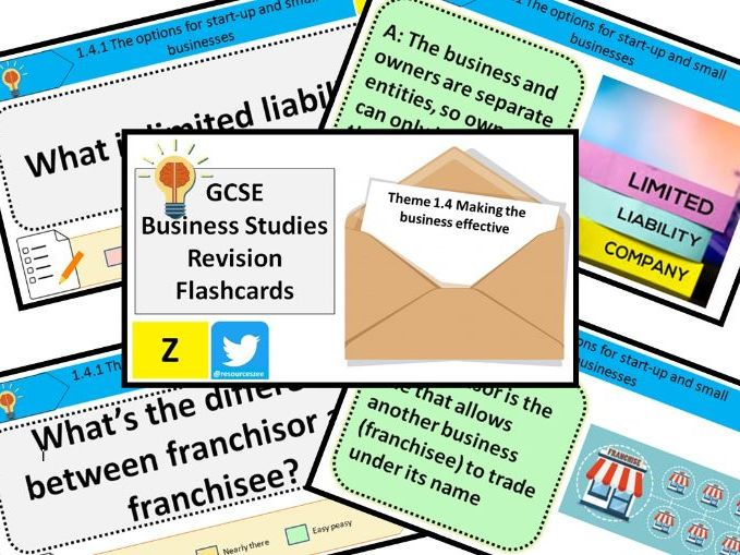 1.4 Making the business effective - Edexcel GCSE Business Knowledge revision