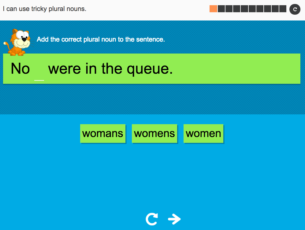 I can use tricky plural nouns - Interactive Activity - Year 3 Spag