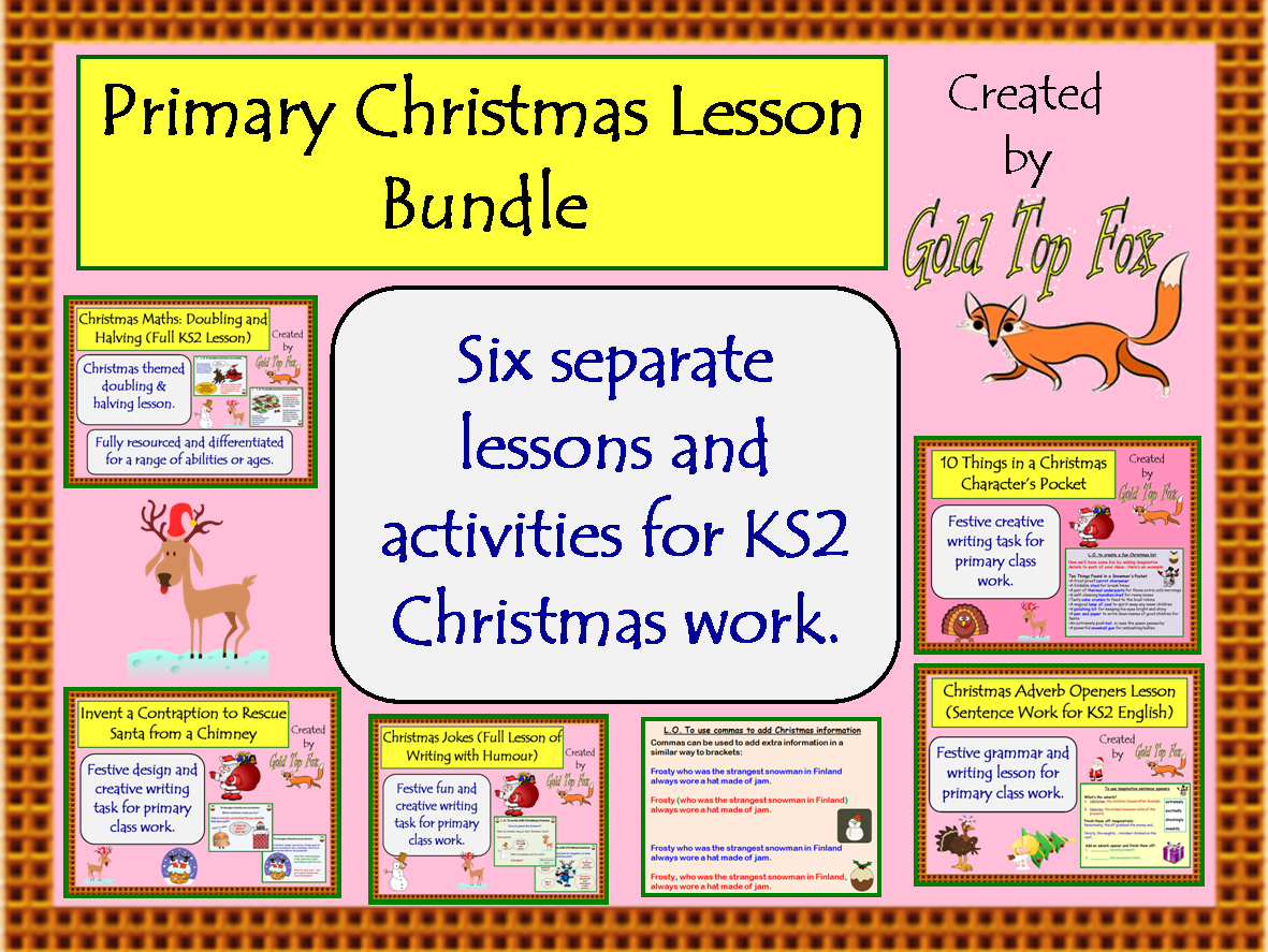 Primary Christmas Lesson Bundle (English, Maths and Design)