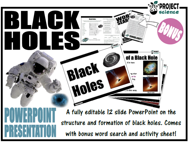 Black Holes PowerPoint and Activity Sheets