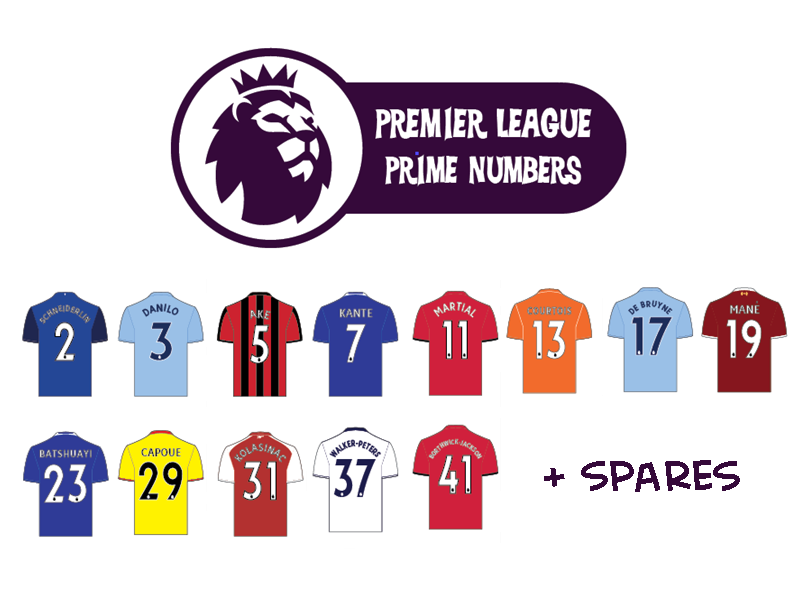 Premier League Prime Numbers Display
