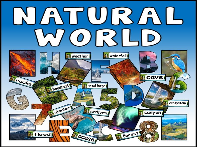 NATURAL WORLD TEACHING AND DISPLAY RESOURCES GEOGRAPHY SCIENCE LETTERING