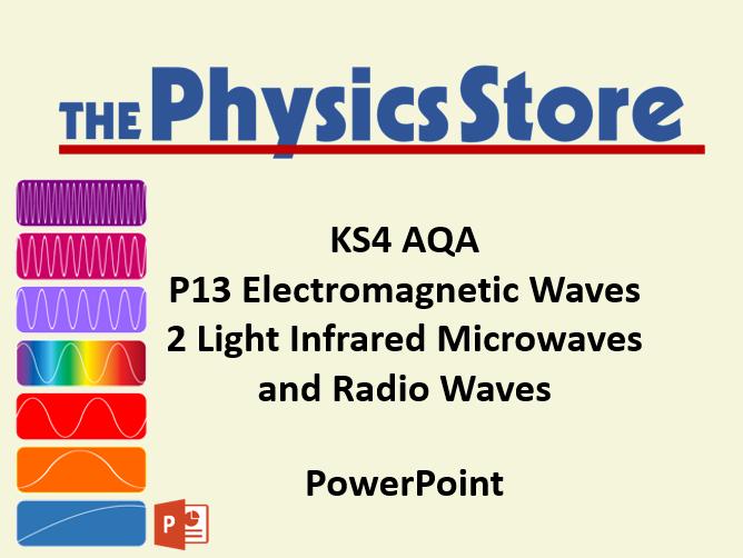 KS4 Physics AQA P13 2 Light Infrared Microwaves and Radio Waves PowerPoint