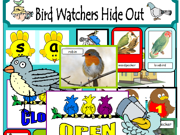BIRD WATCHERS HIDEOUT ROLEPLAY CLASSROOM DISPLAY EYFS KS1