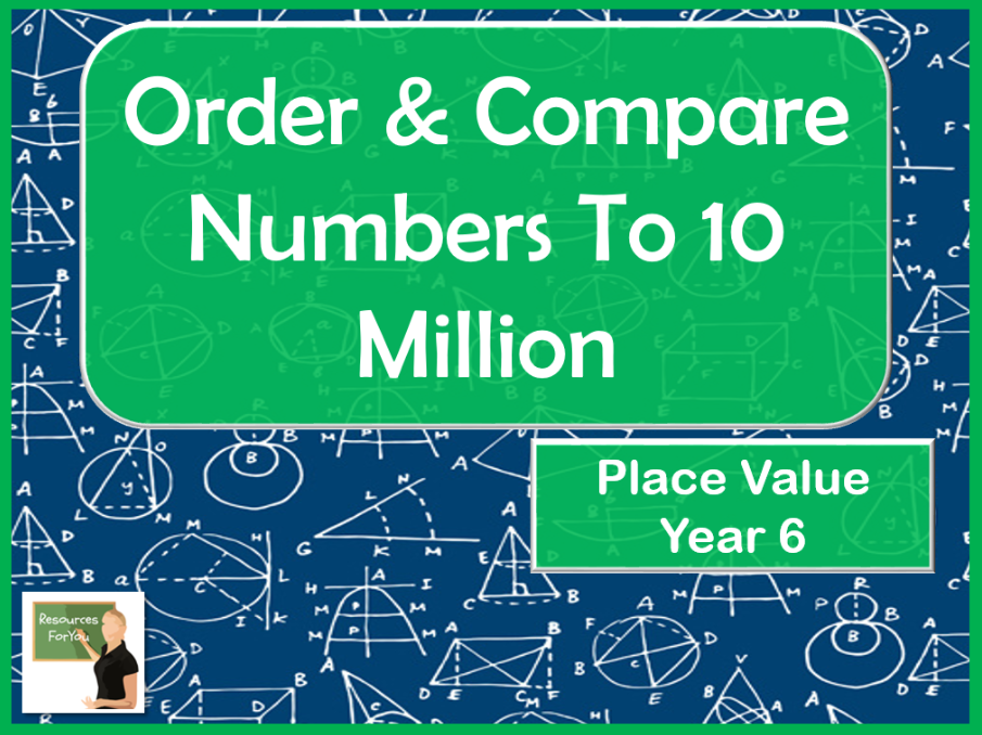 Maths- Order and Compare Numbers to 10 million
