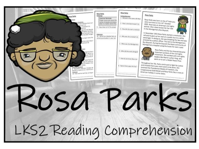 LKS2 History - Rosa Parks Reading Comprehension Activity