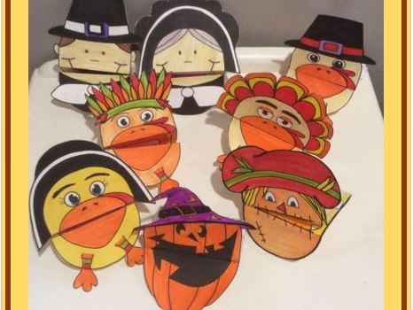 Thanksgiving Crafts - Hand Puppets