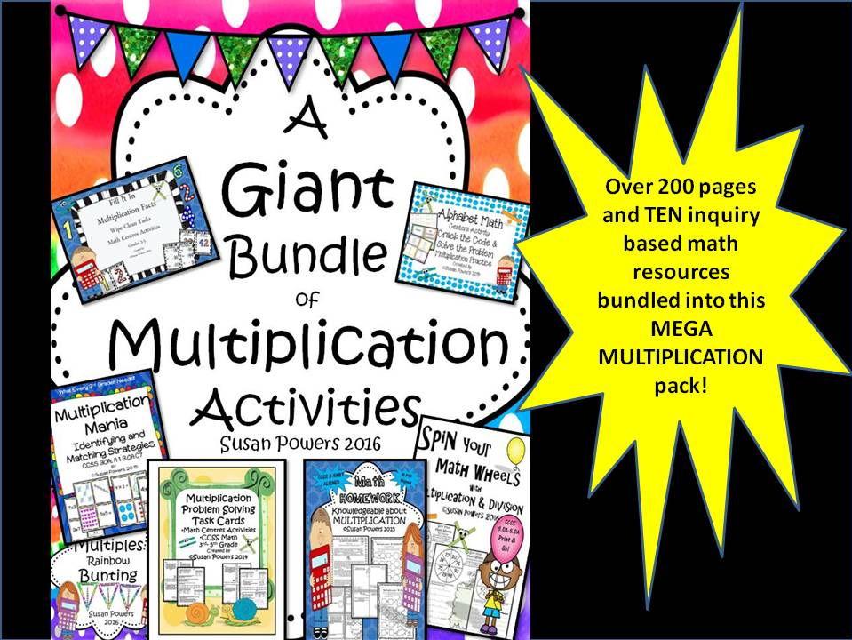 A Mega Bundle of Multiplication Activities
