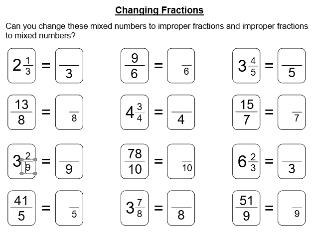 Equivalent, Simplest Form and Changing Fractions