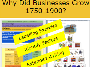 *FULL LESSON* Why did Businesses Grow 1750-1900? Industrial Revolution KS3