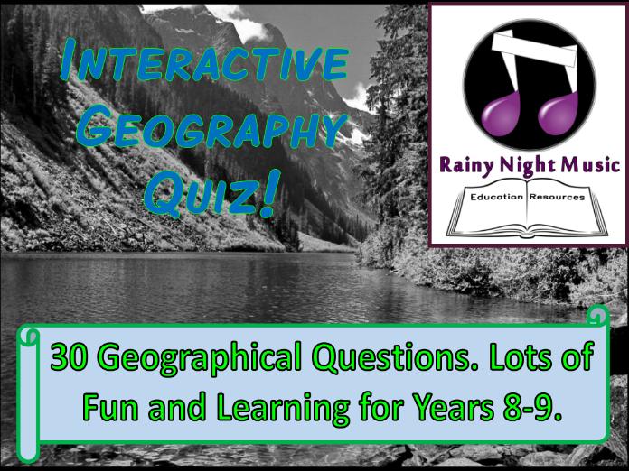Fun Interactive Geography Quiz
