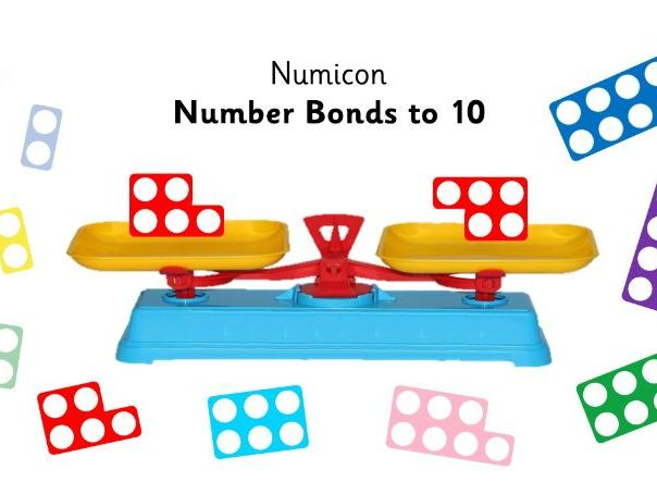 Numicon Number Bonds to 10 Scales - Animated Powerpoint