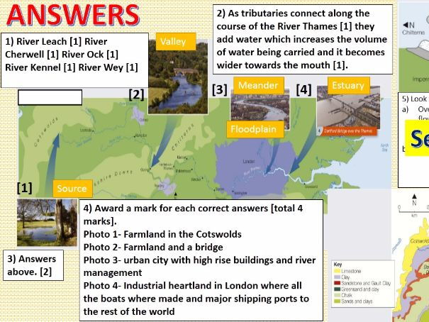 NEW OCR B Enquiring Minds DISTINCTIVE LANDFORMS 2017 18) The River Thames Basin WITH ANSWERS