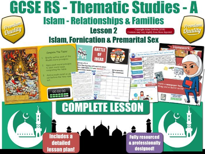 GCSE Islam - Sex Before Marriage (Premarital Sex) [FREE LESSON] (Religious Studies)