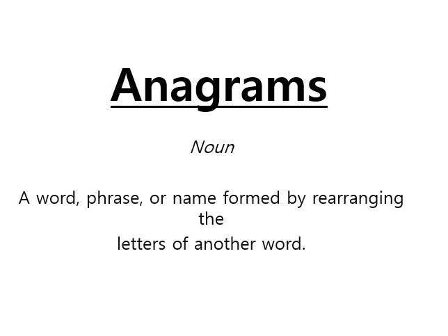 Fun and easy Anagram review game for KS1/KS2.