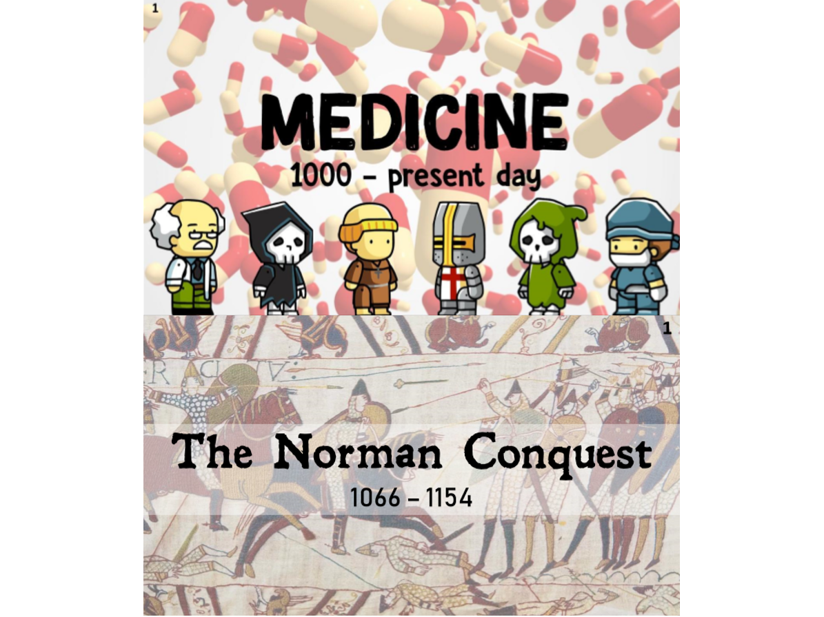 AQA GCSE History 'The Norman Conquest' and 'Britain: Health & the people - c1000 to the present day' Revision Card Bundle