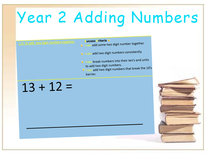 To add two digit numbers together Year 2
