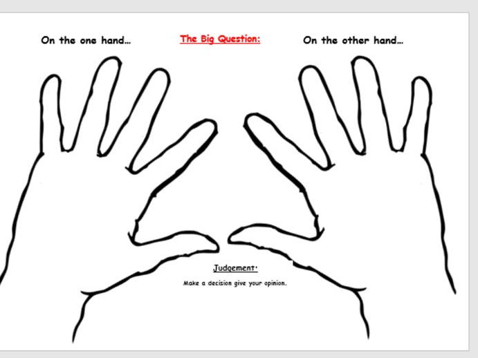Teaching interpretations- On the one hand, on the other hand...