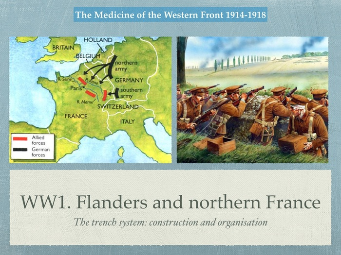 GCSE History of Medicine. WW1. Flanders and northern France in WW1