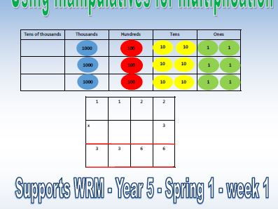 Year 5 - Spring Block 1 - week 1 - WRM - Using manipulatives for multiplication.