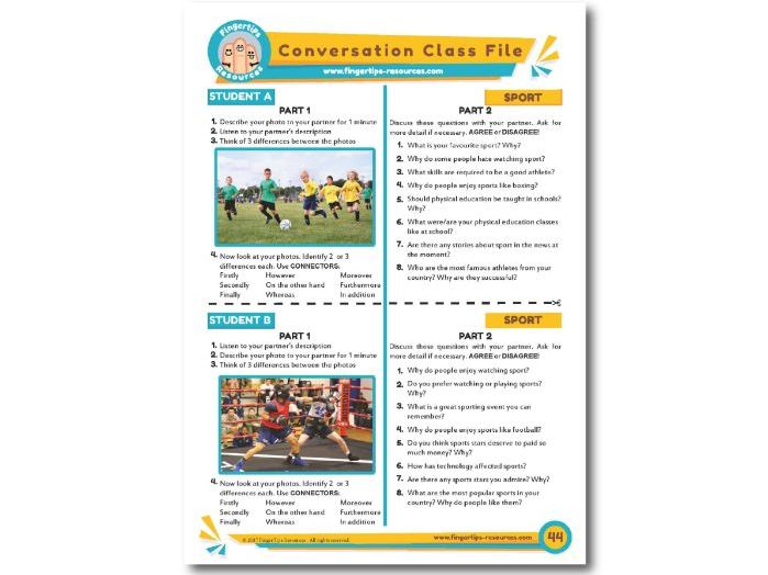 Sports & Games - ESL Conversation Activity