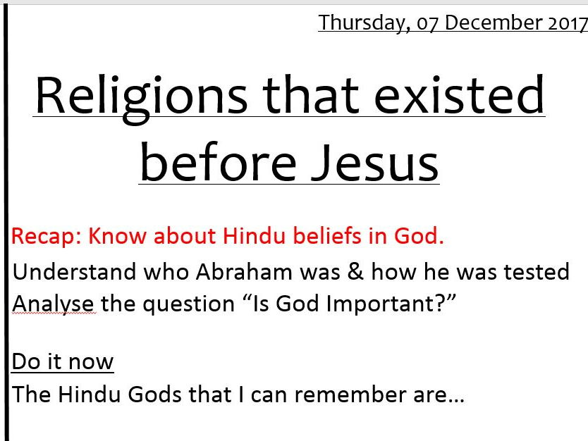 Introduction to world religions Lesson 1