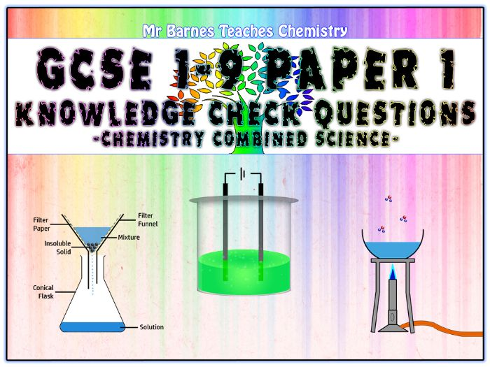GCSE Combined Science 1-9 - Chemistry Paper 1 Knowledge Check Questions