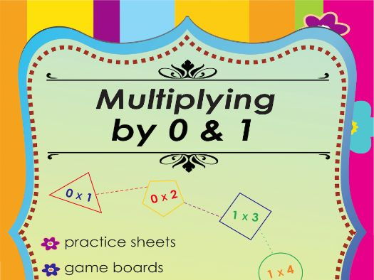 Multiplying by 0 & 1 Multiplication Math Games and Lesson Plans